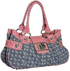 Pink & blue Guess purse Guess Purses, Guess Handbags, My Wardrobe, Pink Blue, Diaper Bag, Kate Spade, Vans, Gucci, Louis Vuitton