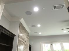 In ceiling speakers for a surround system. Audi A, In Wall Speakers, Home Speakers, In Ceiling Speakers, Music Speakers, House Extension Design, House Design, Surround Sound Speakers, Tv Decor