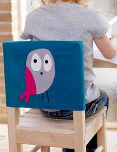 DIY Chair cover with animal head #owl - Stoelhoes met dierenhoofd #uil Kijk op www.101woonideeen.nl