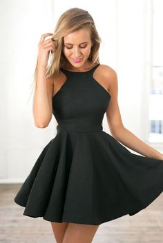 Black Homecoming Dress,simple Homecoming Dresses,Satin Homecoming Gowns,Short…