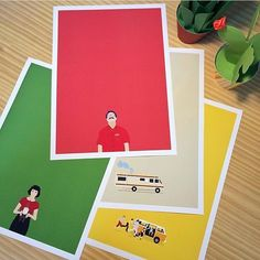 Por uma terça-feira mais colorida. Os pôsteres 'Amelie Poulain'  'Her'  'Breaking Bad'  e 'Little Miss Sunshine'  da #ColeçãoPopColorNCDJ.  - PopColor é uma homenagen aos filmes e séries que amamos. Seguindo o estilo minimalista a coleção apresenta as cores como verdadeiros personagens dessas obras.  - Vista a sua casa para 2017. - http://ift.tt/1dqyBxz (Link na bio). #nacasadajoana #abaixoasparedesvazias #pôster #posters #quadros #enquadrados #design #decoração #decor #interiordesign…