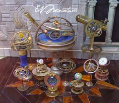 A few fun celestial instruments to show. Been awhile since I have made some.. You can view more photos here: http://evminiatures...