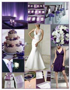 White and purple wedding inspiration