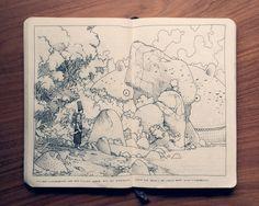 100grados » Jared Muralt y sus libretas de bocetos dan mucha envidia.