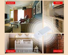 Rechargeable LED Sensor Night light for Baby room,Sitting room,Bedroom,Kitchen etc.