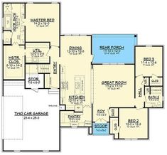 Plans Maison En Photos 2018 Image Description Charming 3 bed 2 bath French Country design with amazing features. This plan offers an open feel with large spaces and hidden pantry. The master suite is …… French Country House Plans, French Country Bedrooms, French Country Style, French Country Decorating, Country Décor, Best House Plans, House Floor Plans, Hidden Pantry, Bonus Rooms
