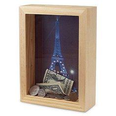 Cofrinho legal pra guardar dinheiro pra próxima viagem =) AMEI!!!!