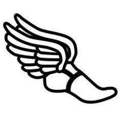 winged foot by spacefem a winged foot popular symbol of track rh pinterest com wingfoot logo winged foot login