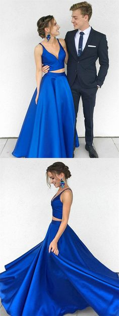 Plus Size Prom Dress, Sexy Prom Dress,Royal Blue Prom Dress,Two-Piece Long Prom Dress,Satin Blue Evening Dress Shop plus-sized prom dresses for curvy figures and plus-size party dresses. Ball gowns for prom in plus sizes and short plus-sized prom dresses Prom Dresses With Pockets, Prom Dresses For Teens, Prom Dresses 2018, Cheap Prom Dresses, Trendy Dresses, Sexy Dresses, Ball Dresses, Affordable Prom Dresses, Prom Party Dresses
