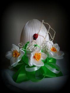 Easter egg kanzashi style от KanzashiStyl на Etsy