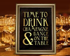 Time to drink champagne and dance art deco style by PartyGraphix