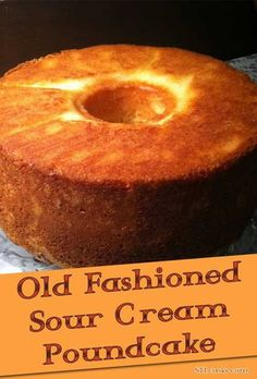 Recipe for Old-fashioned Sour Cream Pound Cake - Some things you just can not improve on. The recipe for this cake is one of those things.