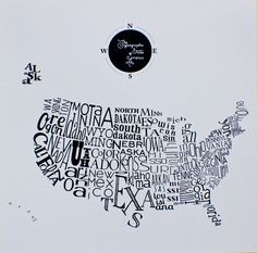 Screenprint Poster--- The Typographic States of America #moreart