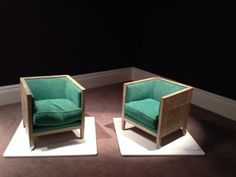 Jean-Michel Frank pair of upholstered armchairs, c.1928. Shagreen and oak, €250,000-300,000