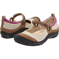 They might not be the most beautiful shoes, but they are great for walking and at work. I own them in three colors! Jambu - Quest