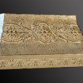 Ornamental Metal Range Hood With Ivory Enamel