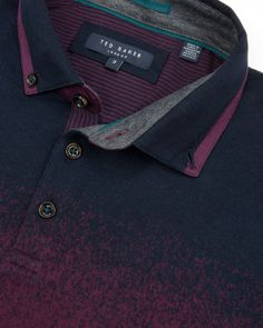 Ombre jacquard polo - Purple | Tops & T-shirts | Ted Baker UK
