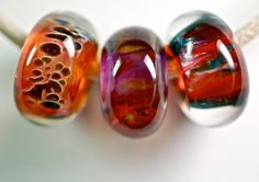 Sale euro style bracelet lampwork large hole bead set by paulbead, $29.00