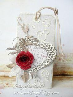 Gallery of handicrafts: Serce i czerwona róża