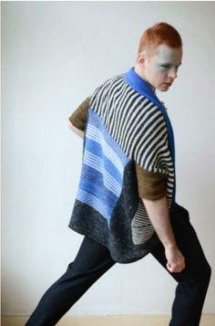 Ravelry: Royally Striped pattern by Stephen West Knitwear Fashion, Knit Fashion, Knitting Stiches, Hand Knitting, Knitting Designs, Knitting Patterns, I Cord, Knitted Coat, Garter Stitch