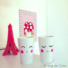 Mugs Posca DIY - @Au pays des Cactus cc @Stephanie Close Close Francis Long Statler