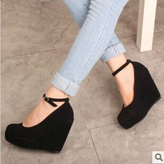 Penny Loves Kenny Suede Mary Jane Wedges Mary jane silhouette Pumps 7 M, medium width Black Solid Penny Loves Kenny Shoes Wedges Women's Shoes, Wedge Shoes, Me Too Shoes, Shoe Boots, Ankle Boots, Dream Shoes, Crazy Shoes, Cute Heels, White Pumps