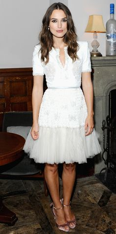 Look of the Day - September 10, 2014 - Keira Knightley from #InStyle