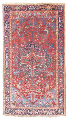 Heriz   Antique Tabriz Rug by Haji Jalili, Country of Origin: Persia, Circa Date: Late 19th Century