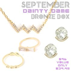 *September Dainty Dame Bronze Box - Jewelry Buzz Box  - 1
