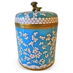 Check out this item at One Kings Lane! Late-19th-C. Blue Cloisonne Jar