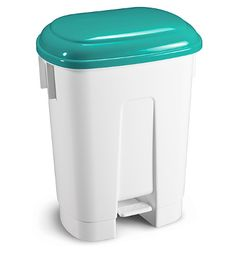 "Buy the new ""Derby Plastic Pedal Bin White/Yellow"" online today. Now in stock. Office Shelving, Yellow Online, Office Environment, Industrial Shelving, Derby, Plastic, Green, Blue, Products"
