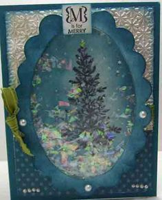 Crafty Maria's Stamping World: Winter Shaker Card - a repost