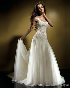Wholesale Elegant free shipping new 2013 vestido de noiva white long the bride bridal gown plus size crystal beaded empire waist beach wedding dresses, Free shipping, $149.0/Piece | DHgate Mobile