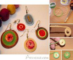 Ohrringe Crochet Earrings, Diy, Jewelry, Fashion, Spring, Schmuck, Ear Piercings, Moda, Jewlery