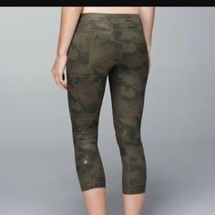 Lululemon run inspire crop camo Excellent condition, size 10 no trades!! Open to reasonable offers! Only through offer button!! lululemon athletica Pants