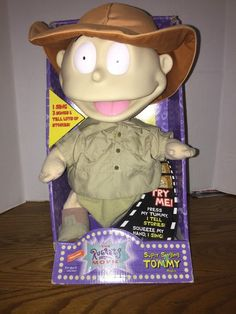 Nickelodeon Rugrats Movie Super Singing Tommy Talking Plush Mattel 1998 New | eBay