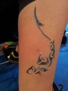 ... shark airbrush airbrush tattoo sharks temporary tattoo forward shark