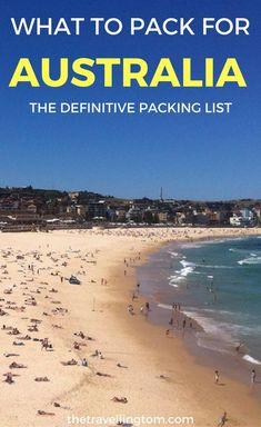 Ultimate Australia packing list, letting you know what to pack for Spring Summer, Autumn and Winter. If you want to know what to pack for Australia, you'll want to read my checklist of items. Check it out now! ============================== what to pack f Winter In Australia, Moving To Australia, Visit Australia, Australia Travel, Australia 2018, Sydney Australia, Vacation Packing, Packing List For Travel, New Travel