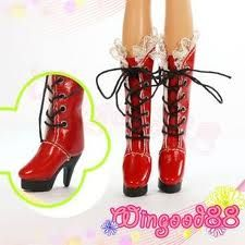Pullip Red-High-Heel-Shoes