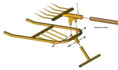 Assembly drawing of a miracle shovel- Сборочный чертеж чудо-лопаты Assembly drawing of a miracle shovel - Farm Tools, Garden Tools, Summer House Garden, Home And Garden, Types Of Farming, Farm Gardens, Shovel, Diy Tools, Vegetable Garden