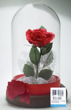 Use something like this for table centerpieces. I heard a great idea to make each table themed for each couple. This could be the Beauty and the Beast table.