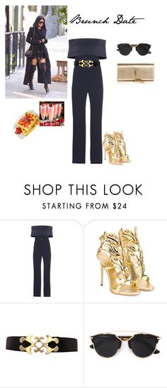 """""""Brunch Date"""" by itskivatho on Polyvore featuring Galvan, Giuseppe Zanotti, Christian Dior, Yves Saint Laurent, women's clothing, women, female, woman, misses and juniors"""