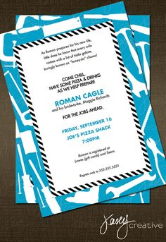 Tool Party Invitation For the Groom by kaseycreative on Etsy, $16.00