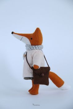 handmade toys & other little things Handmade Toys, Little Things, Dinosaur Stuffed Animal, Mini, Animals, Foxes, Image, Animales, Animaux