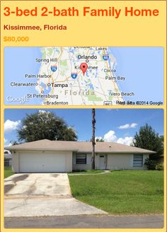 3-bed 2-bath Family Home in Kissimmee, Florida ►$80,000 #PropertyForSale #RealEstate #Florida http://florida-magic.com/properties/74558-family-home-for-sale-in-kissimmee-florida-with-3-bedroom-2-bathroom