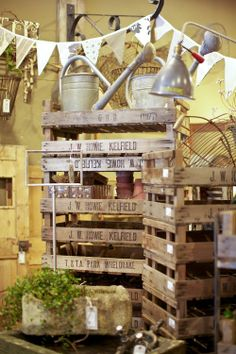 Pallets for a garden