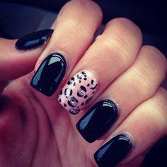 Pink cheetah nails? I think YES!