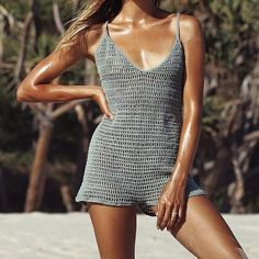 Slide view 1 out from under poppy crochet shorts – Artofit Crochet Romper, Crochet Pants, Crochet Skirts, Crochet Clothes, Crochet Bikini, Knit Crochet, Fashion 2020, Fashion Trends, Clothes Crafts