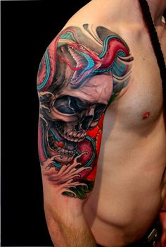 crazy cool shoulder skull - Kostas