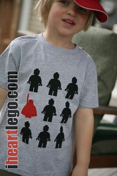 LEGO Darth Vader Stand Out Kids Tshirt by iLego on Etsy, $16.00